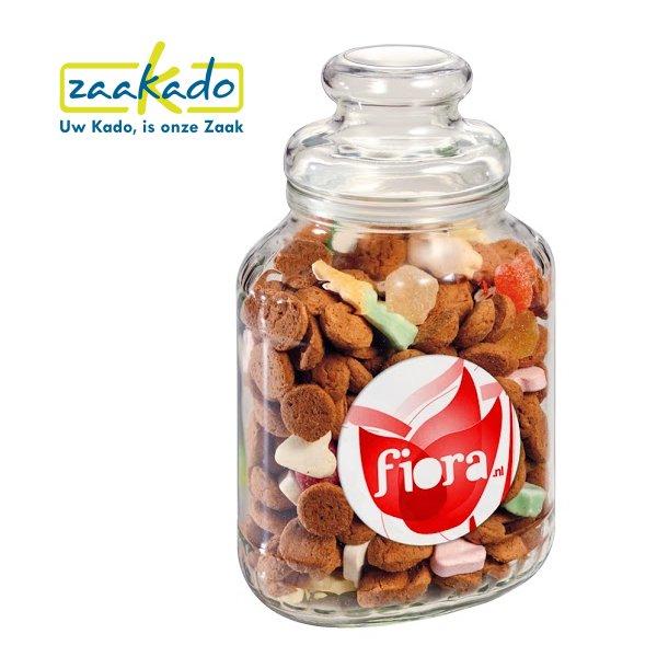 Glazenpot met pepernoten. Originele sinterklaasattenties voor uw personeel, ZaaKado BV Roterdam - relatiegeschenken