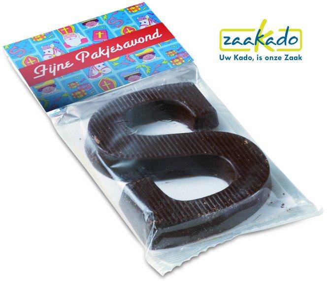 Sinterklaasattentie: Chocolade letter Sinterklaas met Logo, ZaaKado relatiegeschenken Rotterdam