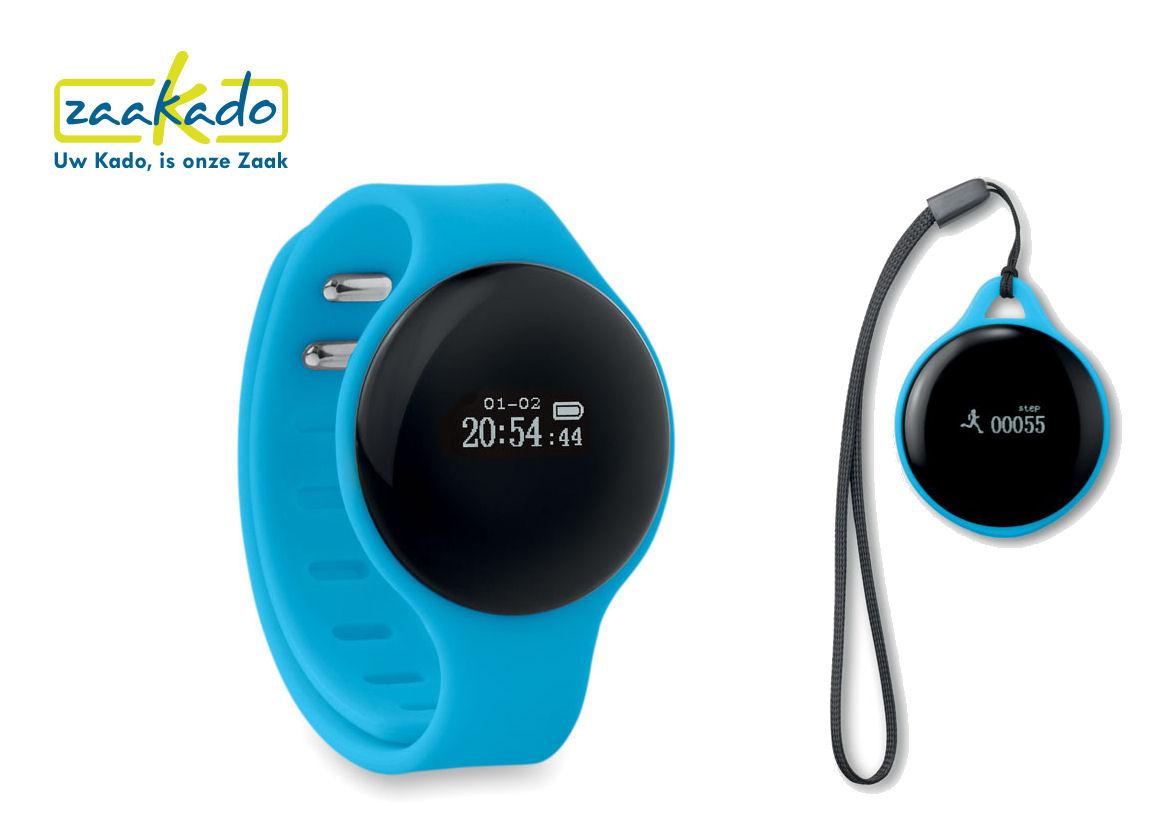 Activiteitstracker uitneembaar horloge bedrukken met uw logo Gezond eindejaarsgeschenk Rotterdam ZaaKado
