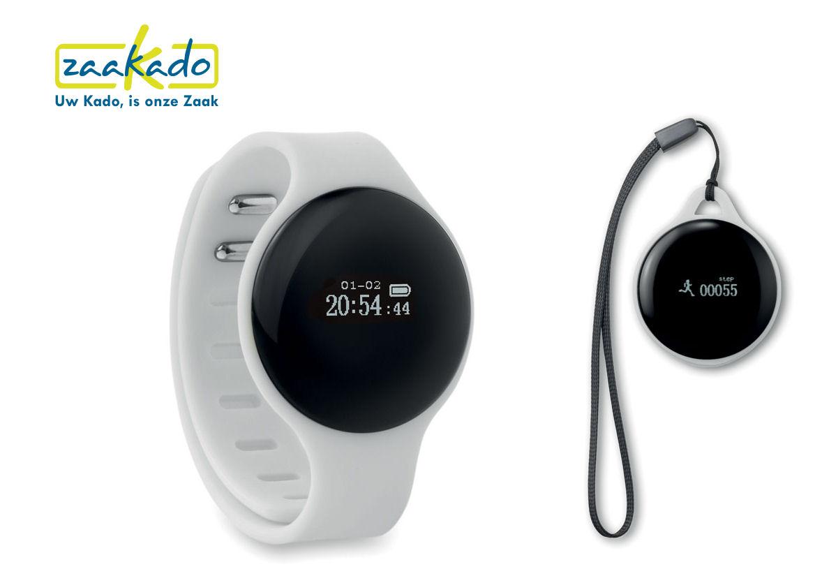Activiteitstracker uitneembaar horloge gepersonaliseerd met uw logo Gezond eindejaarsgeschenk Rotterdam ZaaKado
