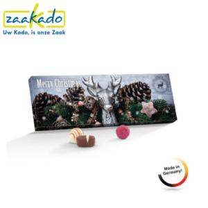 Adventskalender Kerst luxe bonbons kerstfeest kerstborrel bedrijfsfeest bedrijfsevenement personeelsfeest relatiegeschenken geschenk logo ZaaKado Rotterdam