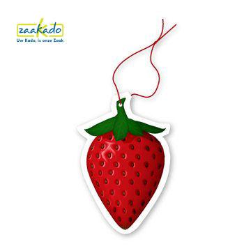 Auto luchtverfrisser eigen vorm fruit bloemen auto transportsector giveaway geur ZaaKado Rotterdam custom made
