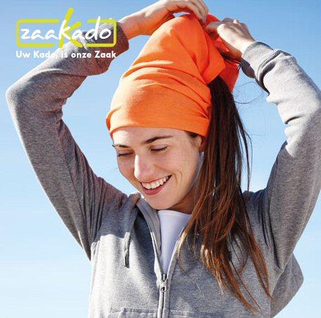 Bedrukte Bandana oranje Koningsdag giveaway logo ZaaKado Rotterdam relatiegeschenken