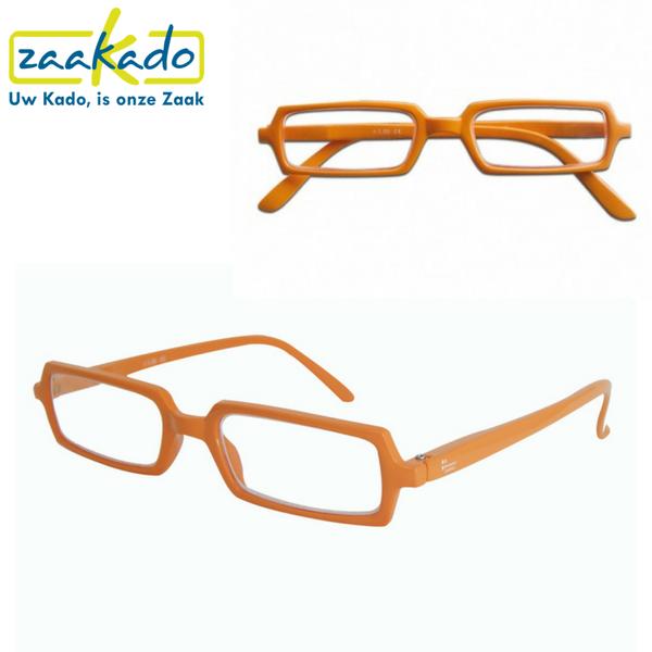 Bedrukte leesbril ouderen 55+ plussers weggevertje giveaway thema zien gezien worden campagne vergroten lezen brillen boeken tijdschriften krant voorlezen opa oma geefmoment