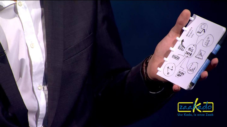 Bewuste relatiegeschenken papierloos paperless werken notitieboek uitwisbaar met app Zaakado Rotterdam MVO groen eco
