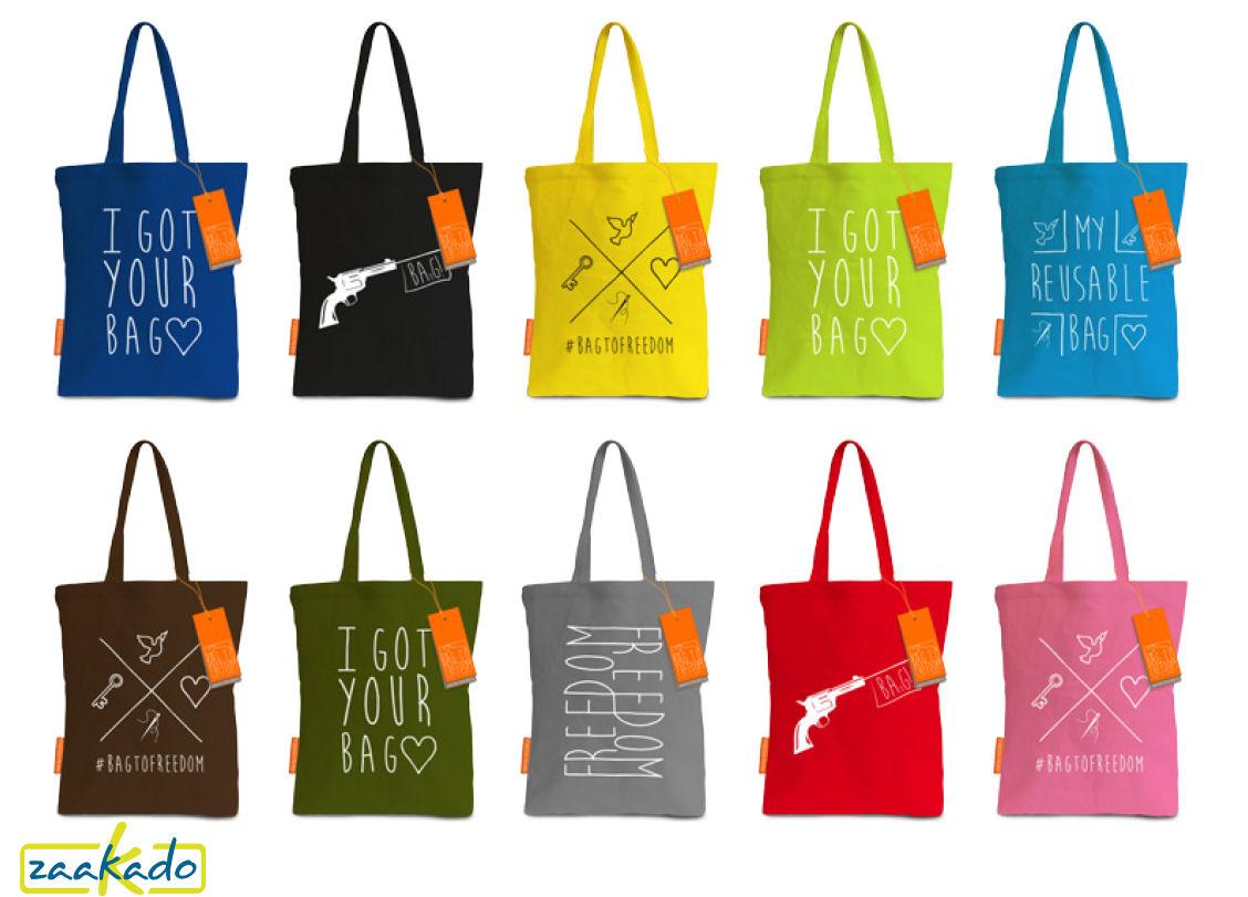 Boodschappentas LISA bagtofreedom herbruikbare tas met goed doel relatiegeschenken Rotterdam ZaaKado