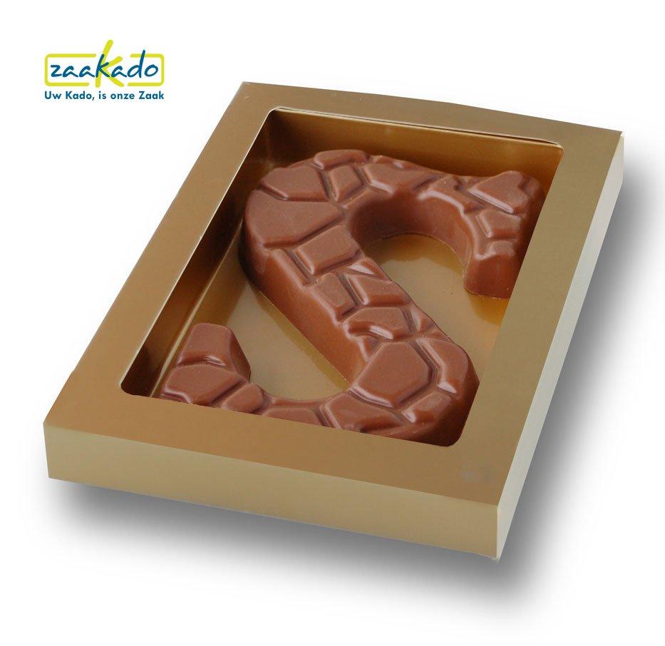 hocoladeletter relief Sinterklaas gouden doos ZaaKado