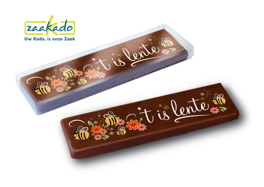 Chocoladereep Volijk Pasen Lente en bedrukking logo ZaaKado relatiegeschenken