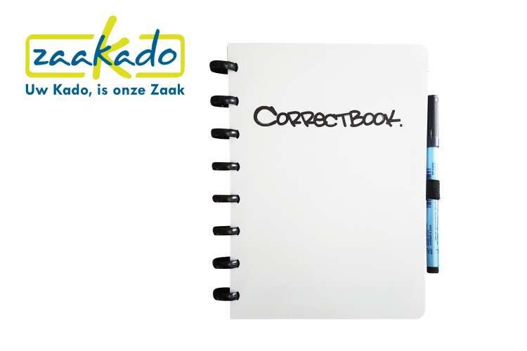 Correctbook gepersonaliseerd cover custom made notitieboek uitwisbaar met APP ZaaKado Rotterdam