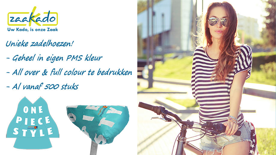 Custom made fietszadelhoes all over full colour te bedrukken minimale afname 500 stuks ZaaKado promotieartikelen
