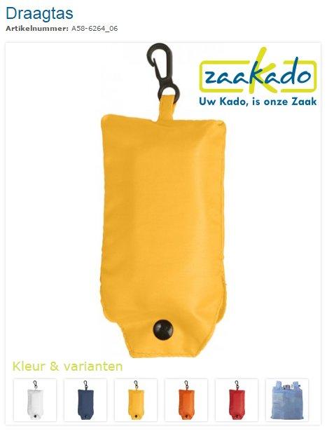 Draagtas opvouwbaar bedrukt met logo, ZaaKado.nl, Relatiegeschenken Rotterdam en promotieartikelen