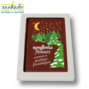 Eindejaarsgeschenk kerst chocolade chocoladekaart brievenbus brievenbusgeschenk brievenbusformaat per post versturen vormen kerstboom eigen ontwerp verpakking logo relatiegeschenk ZaaKado Rotterdam