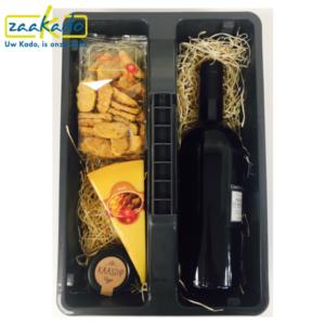 Eindejaarsgeschenk wijn wijnkist kerst kerstmis sinterklaas toolbox mannen , techniek, wijnkist, aannemersbedrijf, bouwsector, bouwbranche op maat persoonlijk ZaaKado Rotterdam