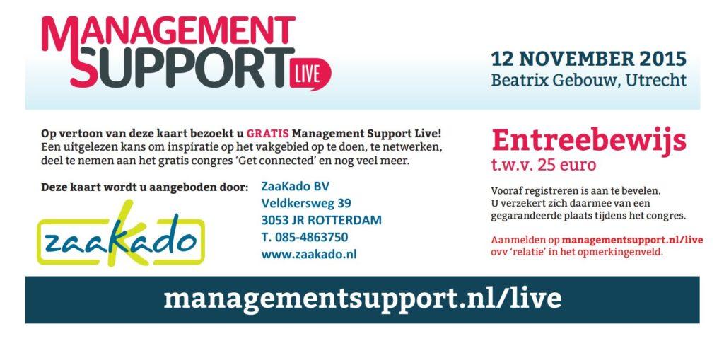Entreebewijs t.w.v. 25 euro aangeboden door ZaaKado BV