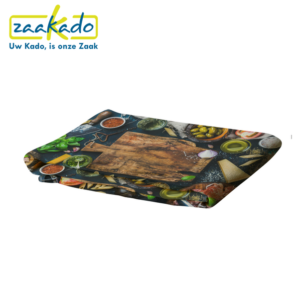Full colour design tafelkleed restaurant kerstpakket picknick allover reactieve print bedrukken Zaakado logo personaliseren bedrukt relatiegeschenken zaakadotip giveaway inspiratie rotterdam gadget