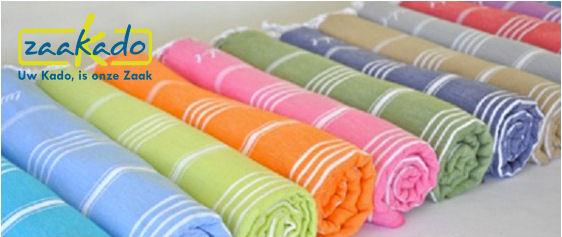Hamam handdoeken met uw logo zomer relatiegeschenken borduren personaliseren Zaakado Rotterdam