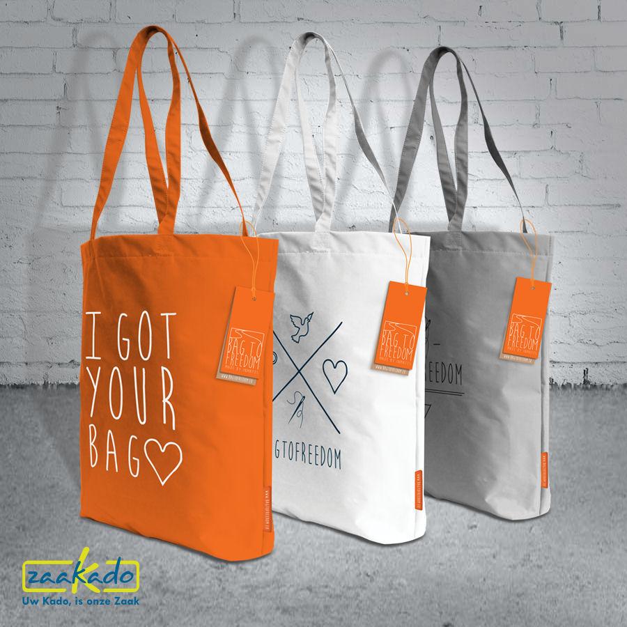 Herbruikbare tas boodschappentas LISA bagtofreedom Kate relatiegeschenken kerstpakketten ZaaKado Rotterdam