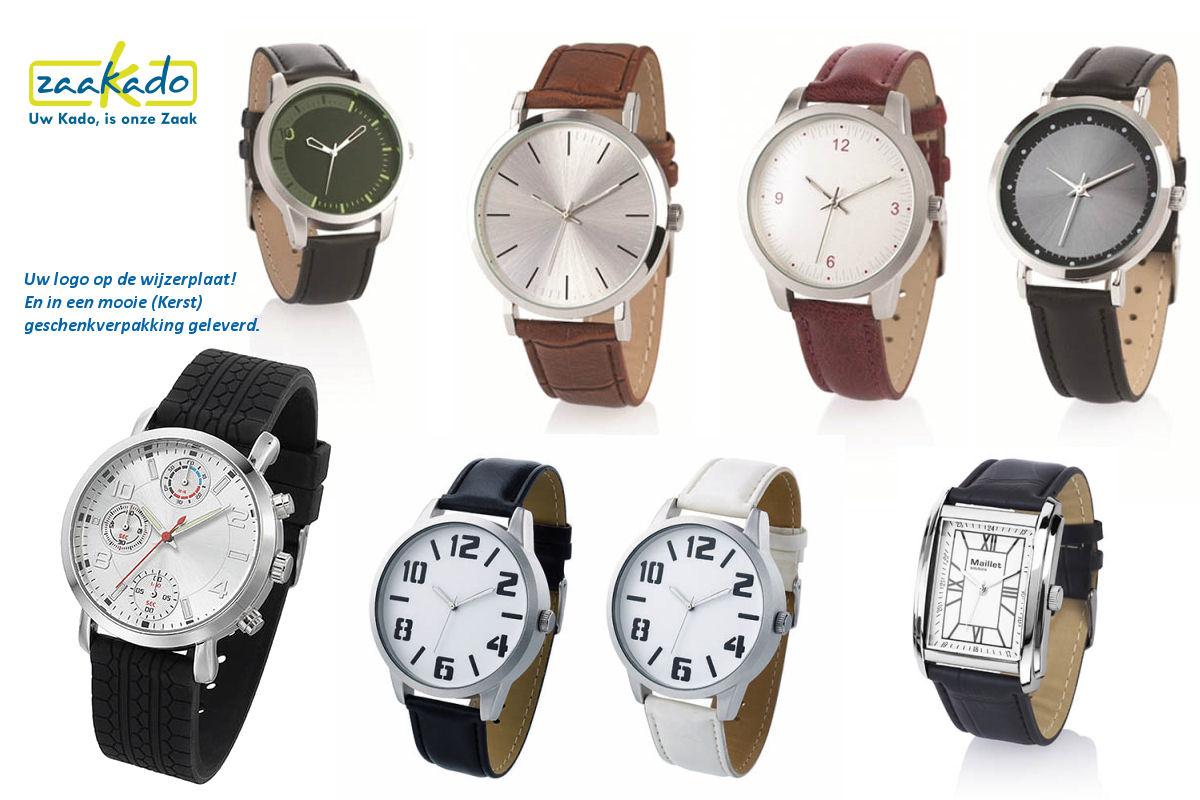 Kerst cadeau ideeen mannen vrouwen horloge met logo wijzerplaat klassiek modern hip kerstpakket Zaakadotip