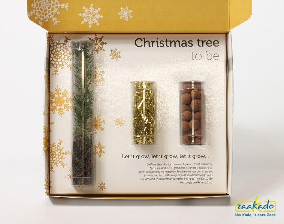 Kerstboom mailing; Unieke zakelijke postale kerstmailing met kerstkaart & kerstboom, brievenbus formaat Zaakado BV Rotterdam