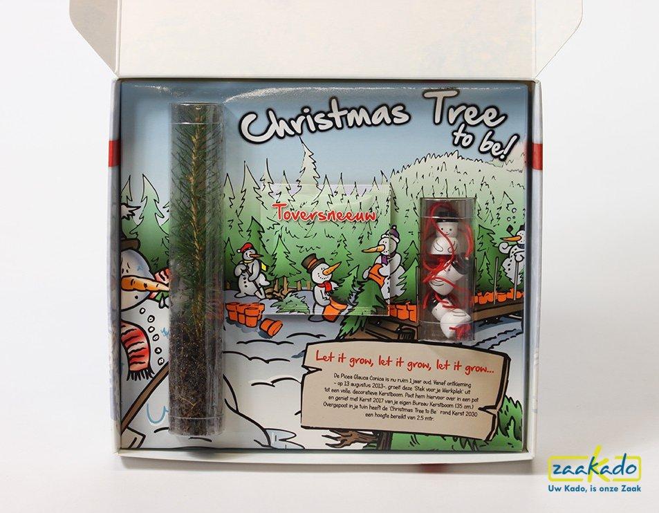 Kerstboom met gelukspoppetjes. Unieke zakelijke kerst mailing per post! ZaaKado Bv Rotterdam