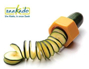 Komkommer spiraalsnijder bedrukt met logo Gin Tonic relatiegeschenken gadget hippe gin accesoirres. ZaaKado Rotterdam hip hot