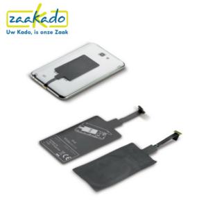 Draadloos opladen ontvanger elke telefoon is nu geschikt voor draadloos opladen Zaakadotip relatiegeschenken zaakado giveaway rotterdam gadget