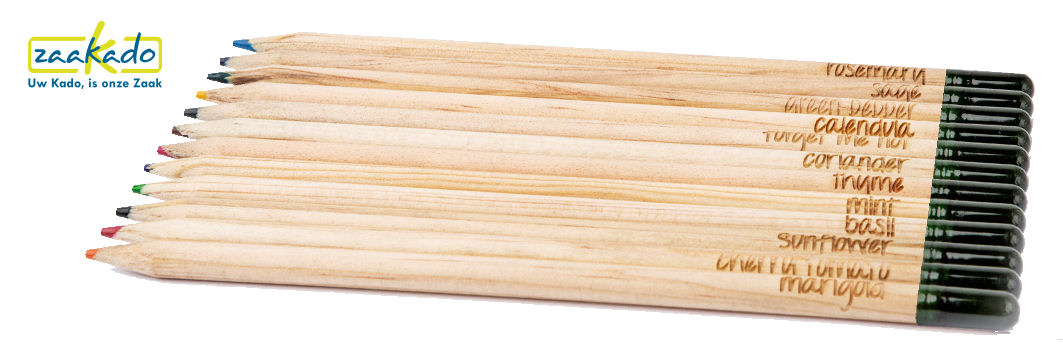 MVO relatiegeschenk groeiende potloden met zaad capsule ZaaKado rotterdam duurzaam Eco