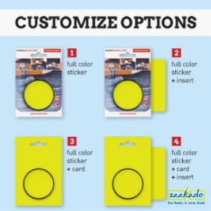 Magneet full colour sticker card customize opties gepersonaliseerd bedrukken all over logo screwmagnet aannemers Zaakado relatiegeschenken zaakadotip giveaway rotterdam