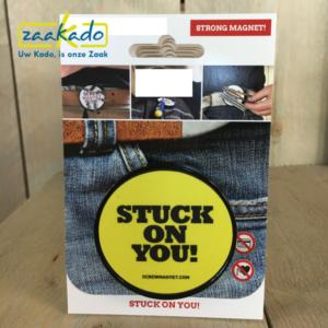 Magneet personaliseren screw magnet bedrukken full colour logo timmerman aannemers stuck on you Zaakado relatiegeschenken zaakadotip giveaway inspiratie rotterdam gadgets