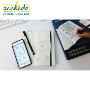 Moleskin Smart Writing Set schrijven pen papier logo ontwerp handschrift neo-technologie data draadloos bluetooth synchroniseren Zaakado rotterdam gadget zakelijk relatiegeschenken giveaways