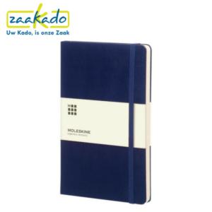 Moleskine blauw Classic Hard soft Cover Large gelinieerd notitieboek logo personaliseren karton kaft Zaakado rotterdam gadget zakelijk relatiegeschenken giveaways