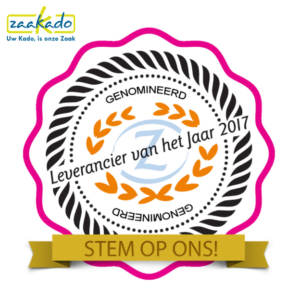 Nominatie genomineerd leverancier jaar publieksprijs gewonnen stemmen jaaroverzicht ZaaKadotip relatiegeschenken zaakado
