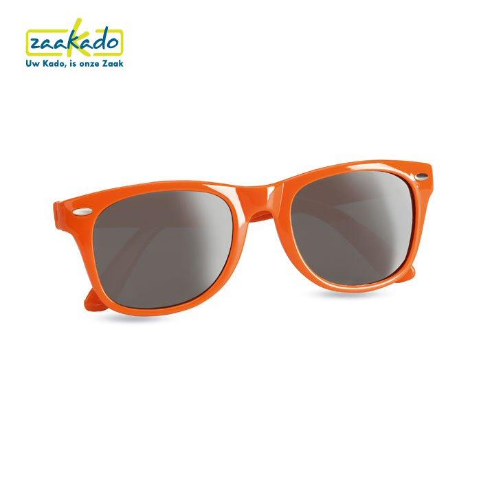 Oranje zonnebril Koningsdag giveaway logo bedrukt Rotterdam ZaaKado giveaway relatiegeschenken