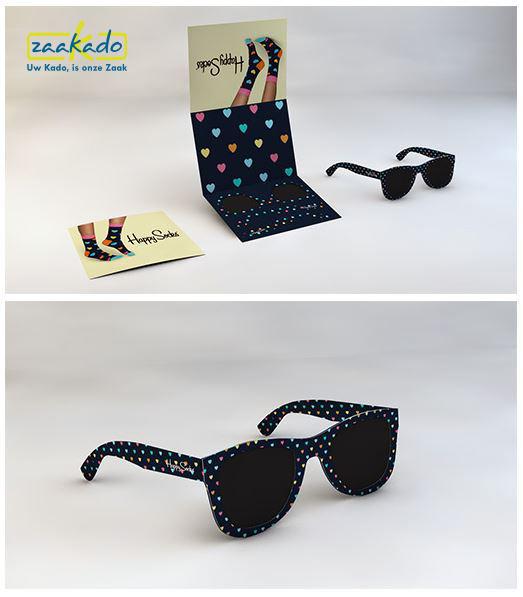 Originele uitnodiging zomerfeest personeelsfeest opening bedrijfsfeest postaal zonnebril Zaakado BV