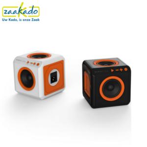PowerCube AudioCube stekkerdoos bluetooth speaker gadget muziek afspelen luisteren handig meenemen vakantie kantoor draadloos ingebouwde accu relatiegeschenk ZaaKado Rotterdam