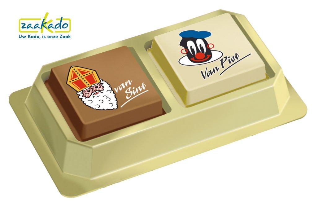 Premium pralines bonbons Sinterklaas chocolade Sintgeschenk bedrukt met uw logo ZaaKado relatiegeschenken