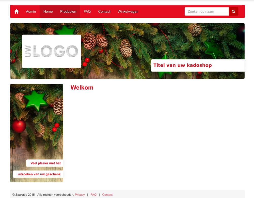 Kadoshopmanager kerst uitstraling kerst kadoshop ZaaKado Rotterdam online keuzeconcept