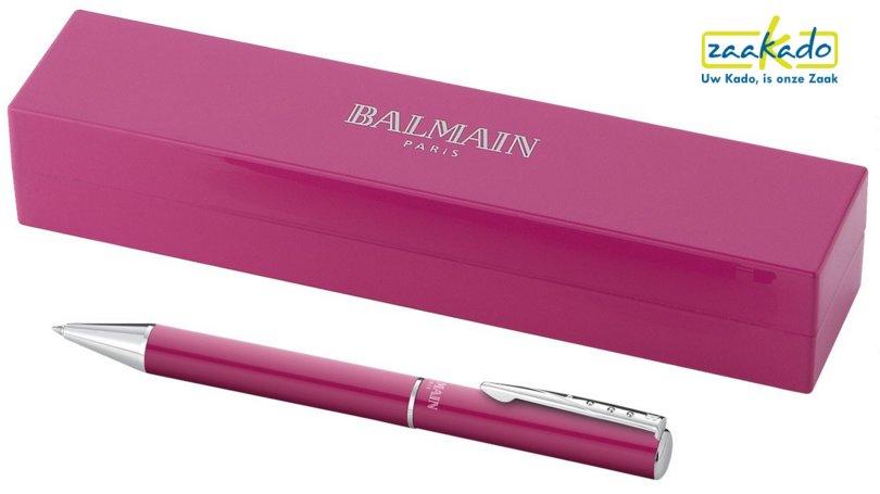 Roze Balmain balpen luxe geschenkverpakking dames relatiegeschenken ZaaKado Rotterdam