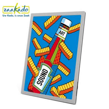 Schilderij speaker-gepersonaliseerd-personaliseren-persoonlijk-huisstijl-logo-kleuren-naar-wens-custom-organisatie-bedrijf-ZaaKado-Rotterdam