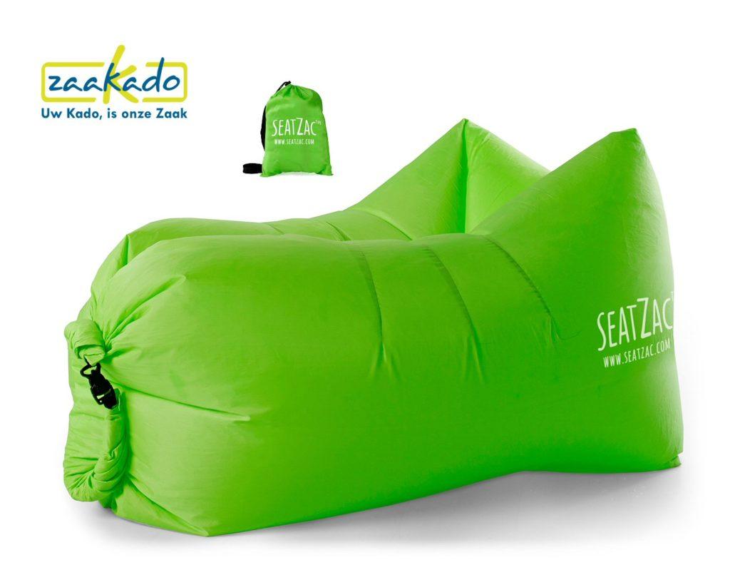 SeatZac groen chillbag logo bedrukken kerstcadeau personeel mannen vrouwen kadotip kerst 2017 origineel hip kado Relatiegeschenken Rotterdam ZaaKado