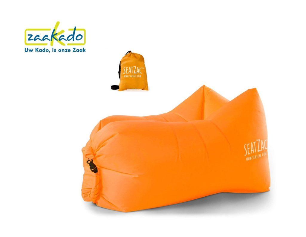 SeatZac oranje chillbag logo personaliseren hippe gadget uniek origineel mannen vrouwen kadotip kerst 2017 origineel hip kado Relatiegeschenken Rotterdam ZaaKado