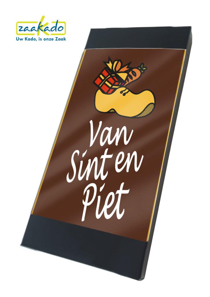 Sinterklaas chocolade brievenbus formaat nieuw logo bedrukking afname luxe verpakking sint en piet geschenk presentje zakelijk Zaakado rotterdam