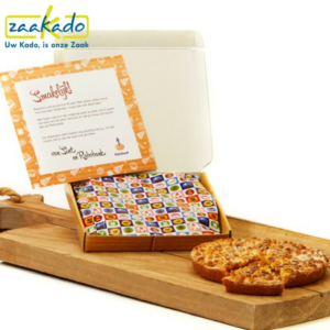 Sinterklaas chocoladegeschenken chocolade relatiegeschenk sinterklaastaartje taart speculaas brievenbusgeschenk per post verzenden logo ZaaKado Rotterdam