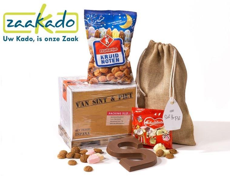 origineel Sinterklaas geschenk pakket pallet pepernoten ZaaKado