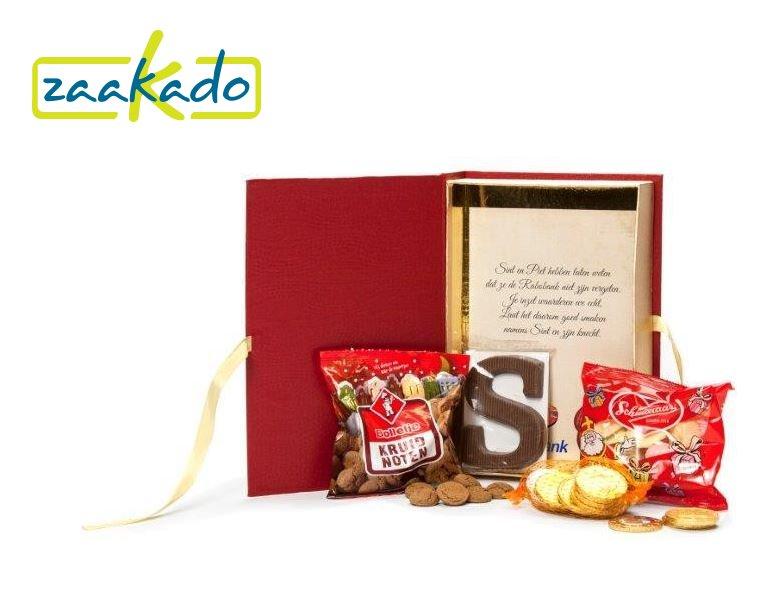 Sinterklaas relatiegeschenken grote boek rood voor lekkernijen relatiegeschenken ZaaKado