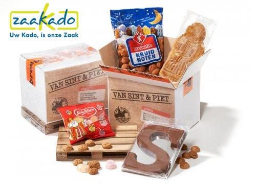 Sinterklaaspakket europallet met lekkernijen gepersonaliseerd ZaaKado Rotterdam