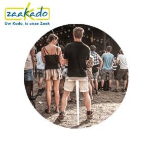 Sitpack Festival feest muziek dansen logo personaliseren drukwerk zitten klein opvouwbaar stok comfortabel cadeau Zaakado rotterdam relatiegeschenken gadgets giveaway inspiratie