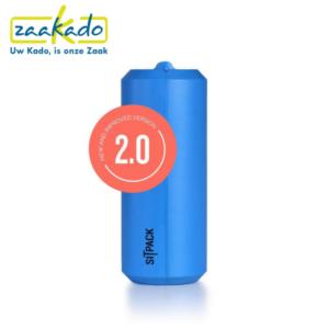 Sitpack blauw drukwerk drukken logo personaliseren zitten klein opvouwbaar stok comfortabel cadeau Zaakado rotterdam relatiegeschenken gadgets giveaway inspiratie