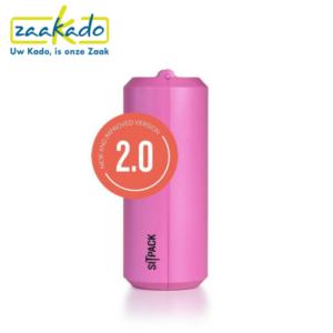 Sitpack roze drukwerk drukken logo personaliseren zitten klein opvouwbaar stok comfortabel cadeau Zaakado rotterdam relatiegeschenken gadgets giveaway inspiratie