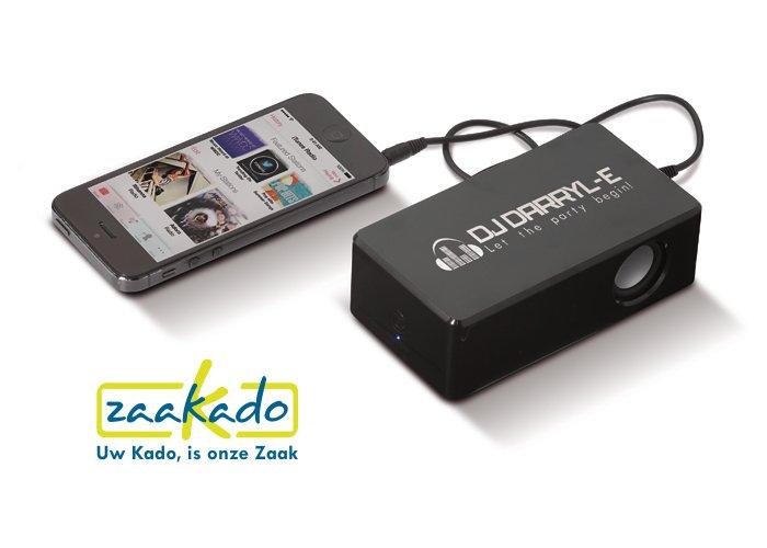 Versterker smartphone speaker, hippe draadloze gadget als relatiegeschenk! ZaaKado BV Rotterdam